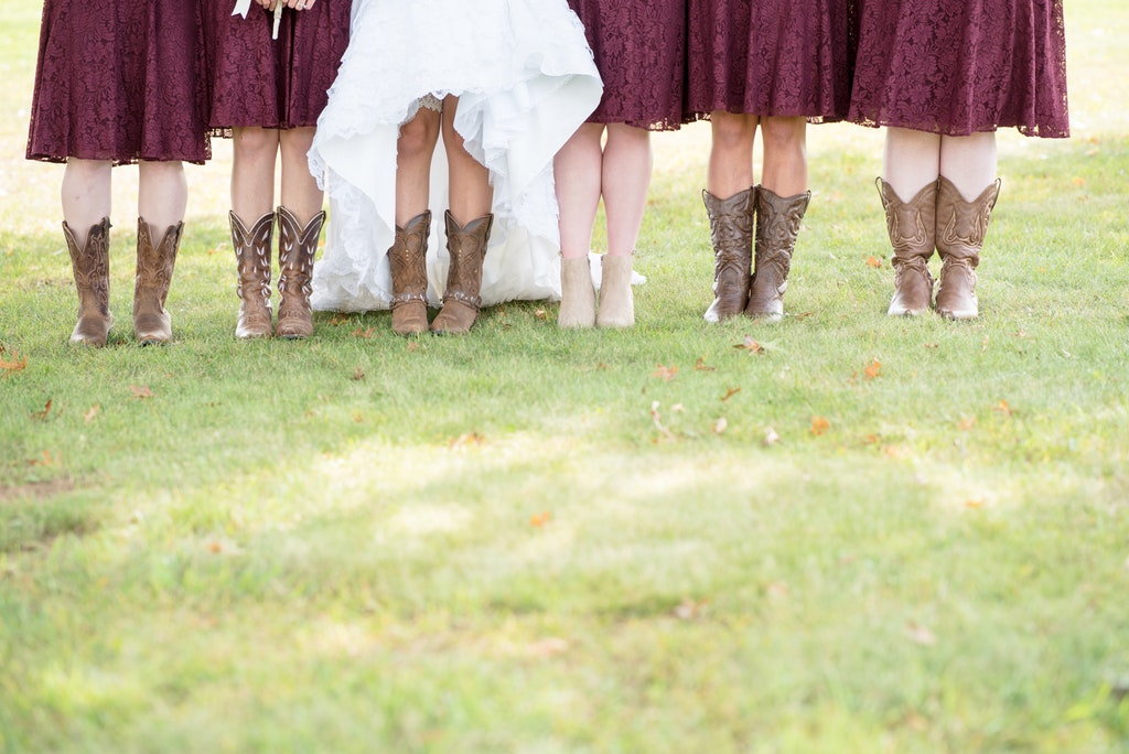 How to Wear Cowgirl Boots with Your Wedding Dress